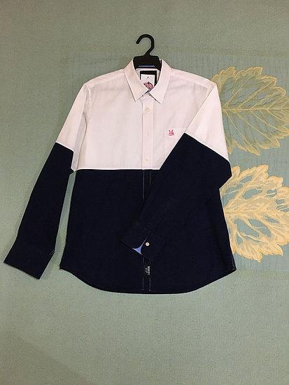 Camisa Azul e Branca Moose - Tam GG