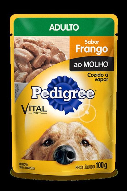 Ração Cães Pedigree 100g  Adulto Frango Molho