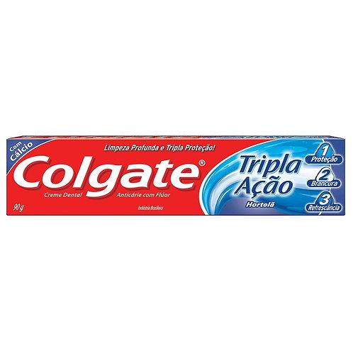 Creme Dental Colgate Tripla Ação 90g  Hortela