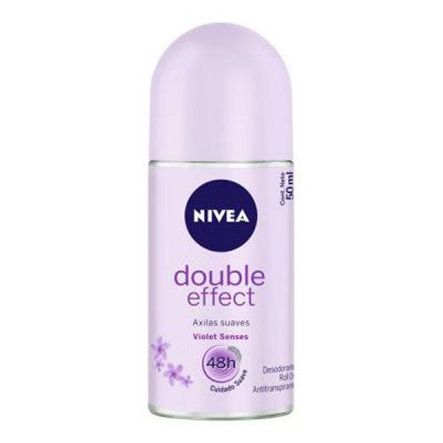 Desodorante Rollon Nivea 50g  Double Effect