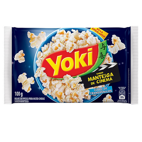 Milho Pipoca Micro Yoki 100g  Mant Cinema