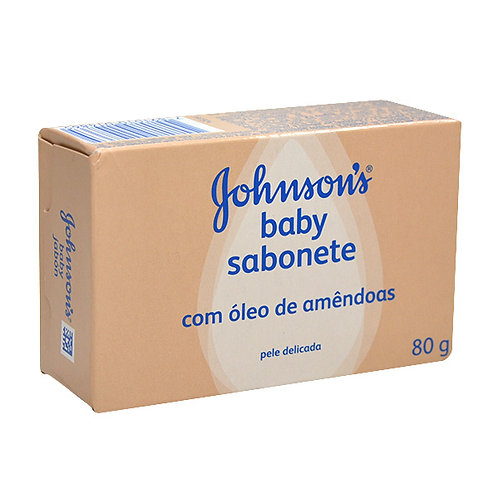 Sabonete Johnsons Baby 80g  Óleo Amendoas