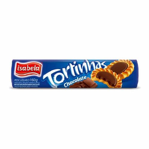 Biscoito Tortinhas Isabela 160g  Chocolate