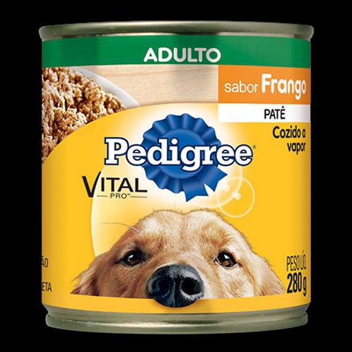 Ração Cães Pedigree Lata 290g  Frango Adulto