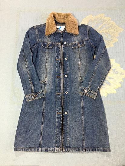 Casaco jeans comprido
