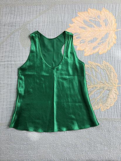Regata de Cetim Verde - Tam M