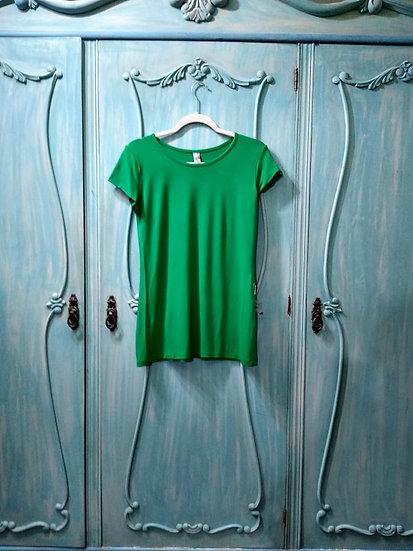 Camiseta verde Patchwork - Tam M