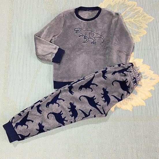 Conjunto infantil de pijama peluciado - Tam 8