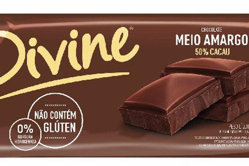 Chocolate Divine 90g  Meio Amargo