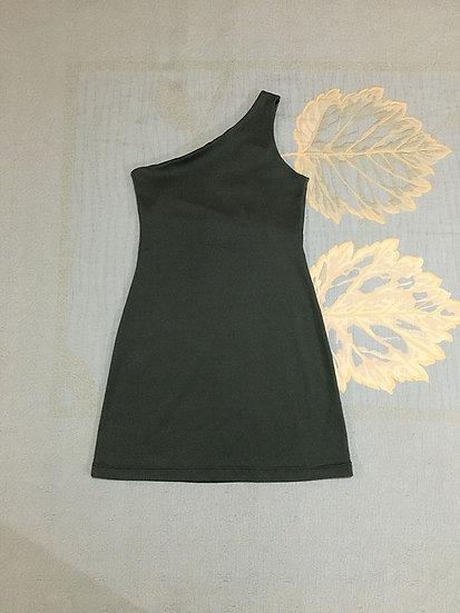 Vestido Recycled Um Ombro - Tam 36