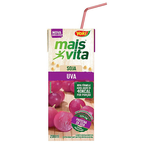 Alimento Soja Mais Vita 200ml  Uva