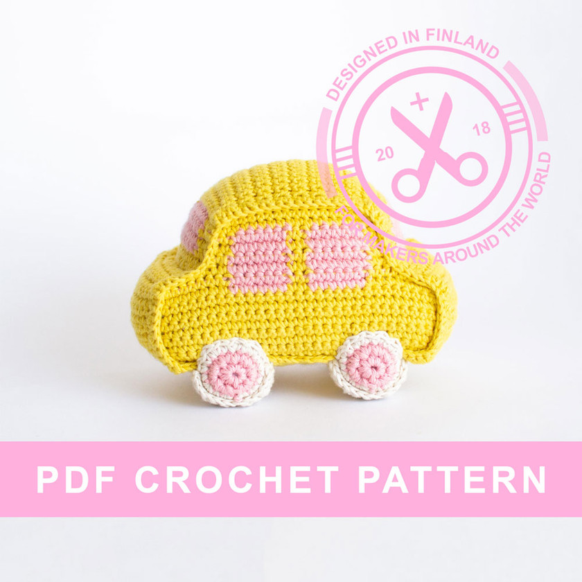 Crochet amigurumi car pattern