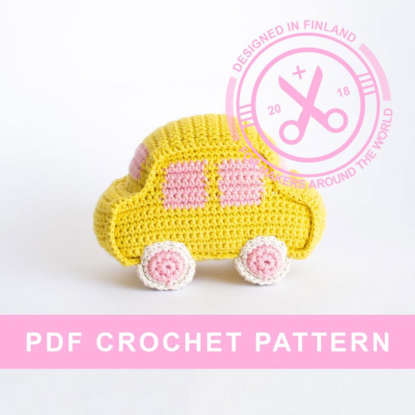 Crochet amigurumi car pattern