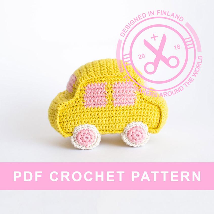 Crochet car amigurumi pattern