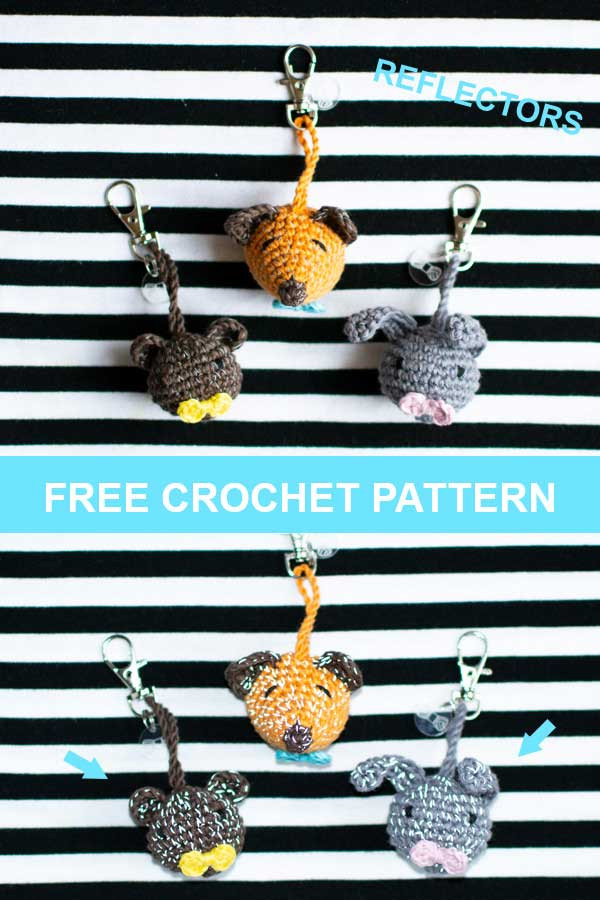 animal reflector crochet pattern