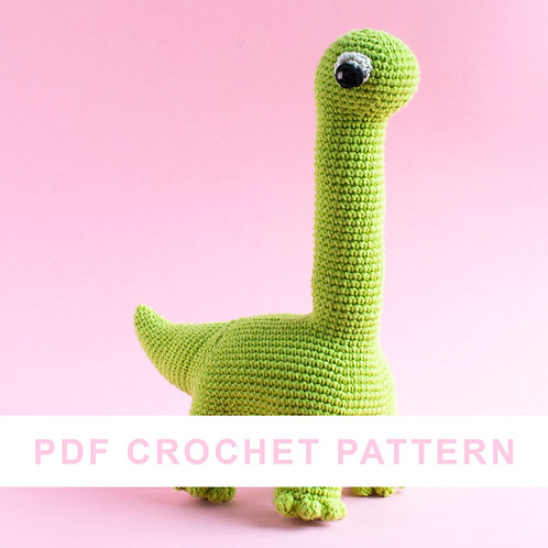 Leopold the dinosaur | crochet PDF pattern