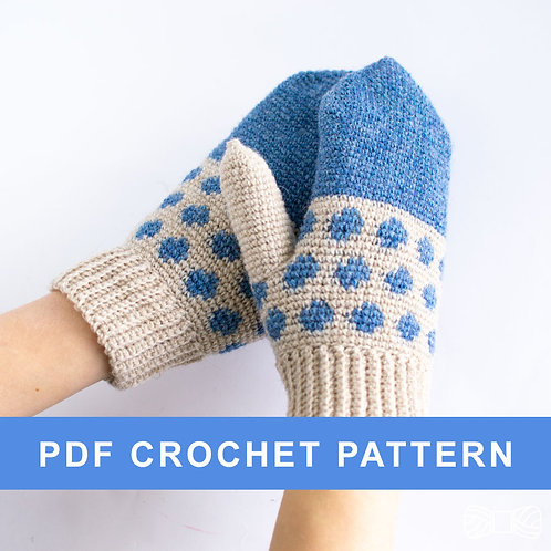 LOTTA | Crochet mittens PDF pattern
