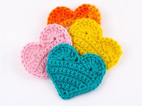 2D HEART - Free crochet pattern
