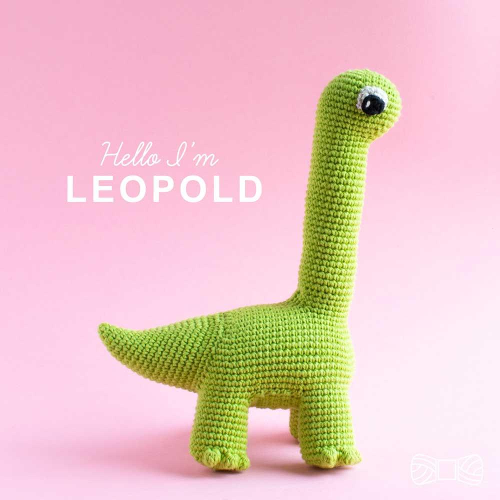 crochet brontosaurus dinosaur amigurumi pattern