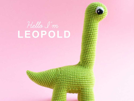 NEW CROCHET PATTERN | Leopold the Brontosaurus dinosaur