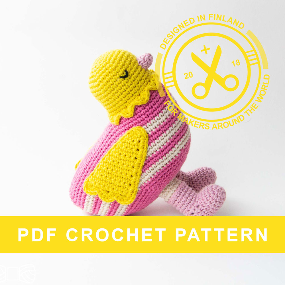 crochet amigurumi chicken pattern