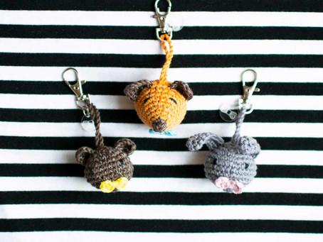 ANIMAL REFLECTORS | Free crochet pattern