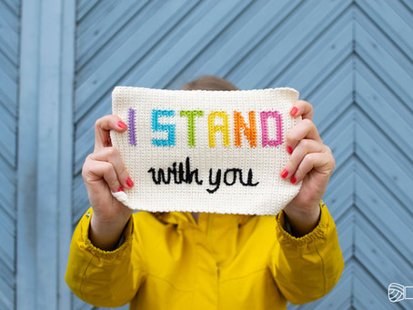 I STAND WITH YOU | support and free pattern