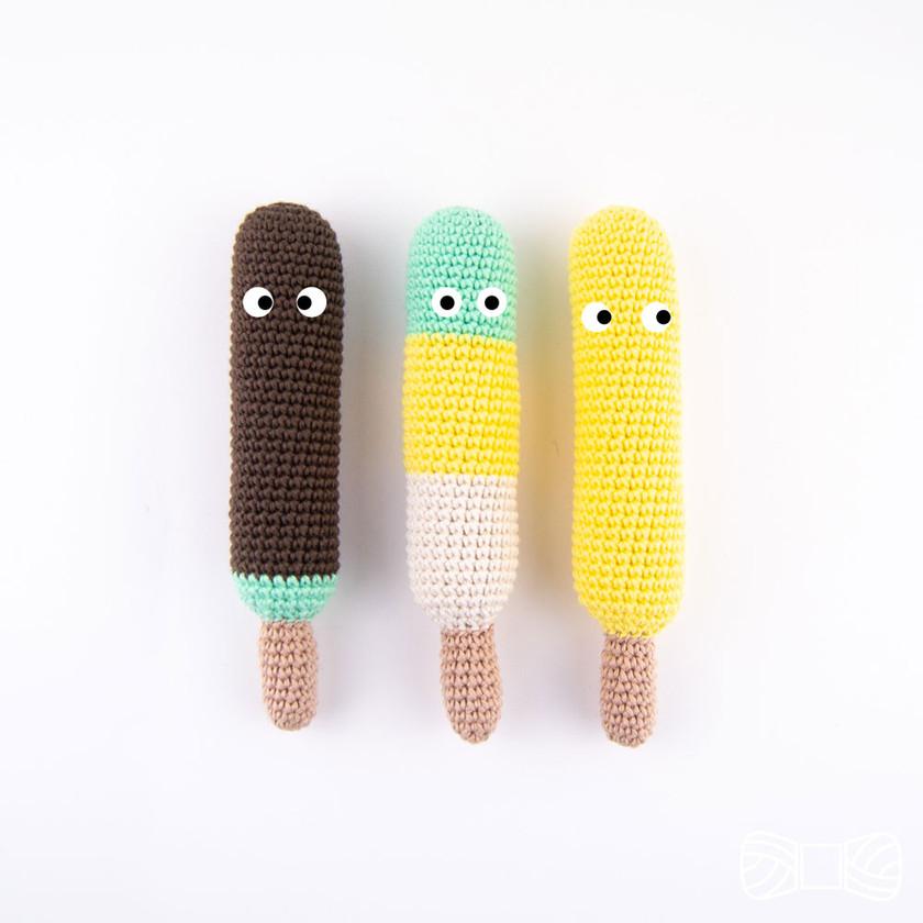Crochet popsicle ice cream