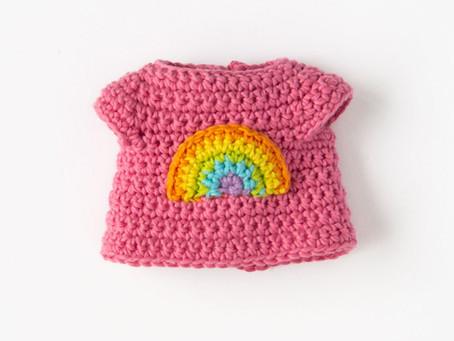CROCHET RAINBOW T-SHIRT | free crochet pattern | gratis virkmönster