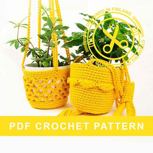 FRANK AND FREDRIK | Plant holder crochet PDF pattern