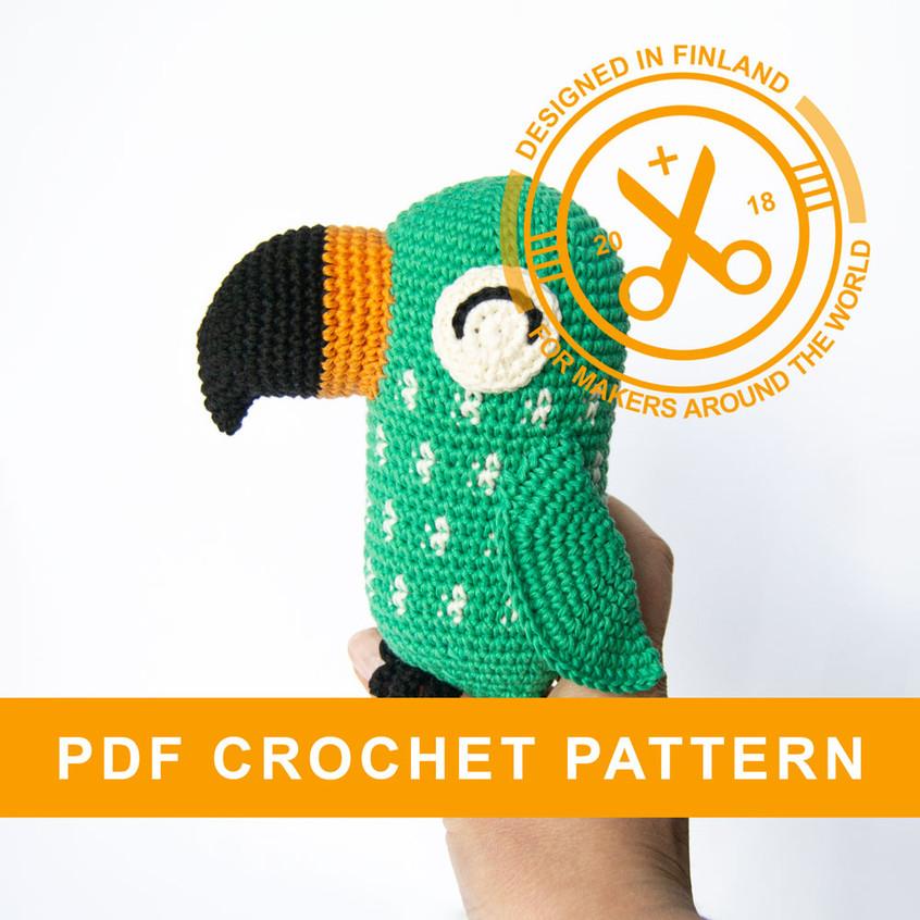 Crochet parrot pattern