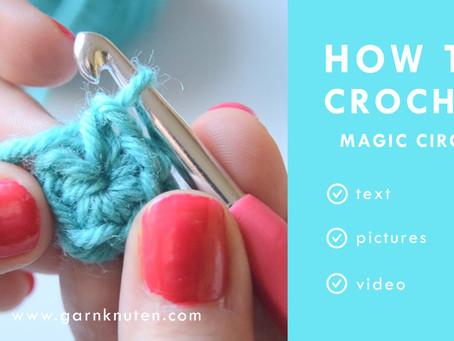 CROCHET 101: How to crochet a magic circle [or magic ring]