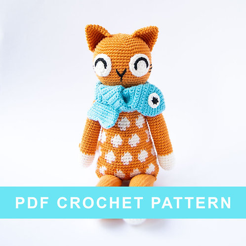 Luna the cat | crochet PDF pattern