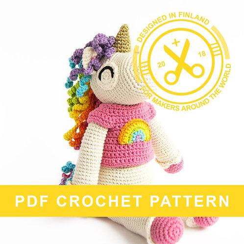 EBBA | Crochet amigurumi unicorn PDF pattern