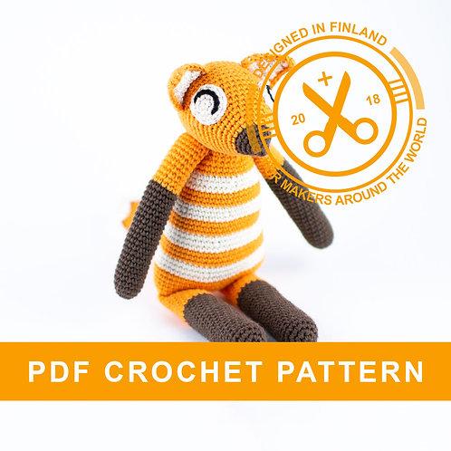 ALICE | Crochet fox PDF pattern