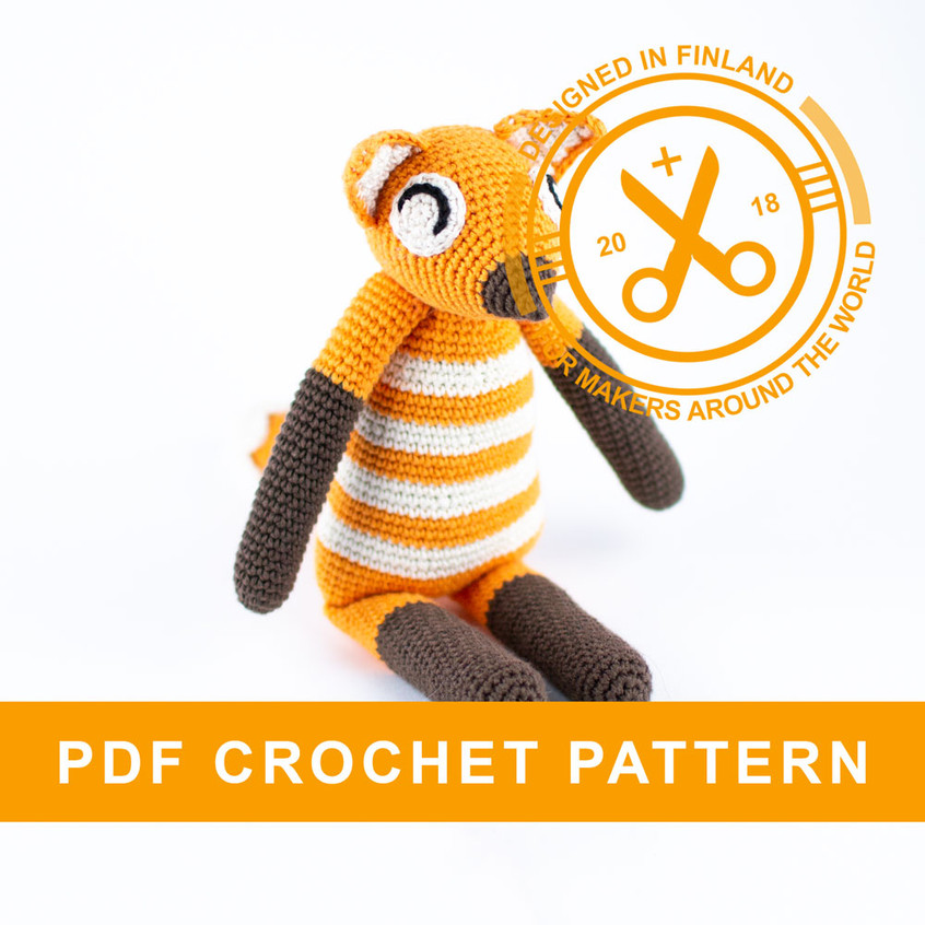 Crochet fox amigurumi pattern