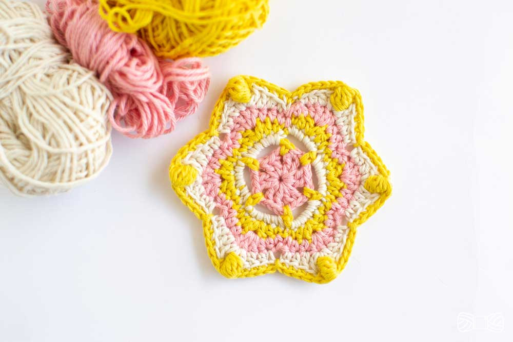 crochet mandala coaster stella