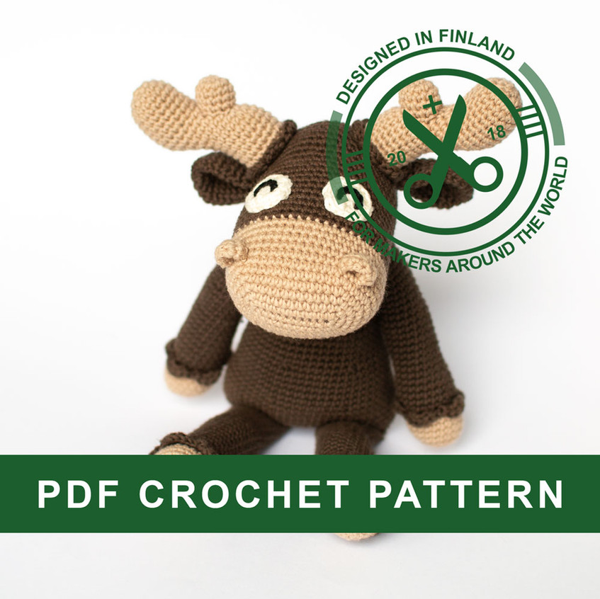 Crochet moose pattern