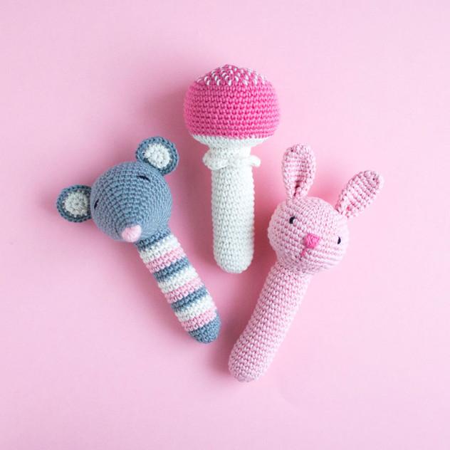 Crochet rattle pattern