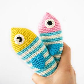 FISH & SQUID | Amigurumi crochet pattern