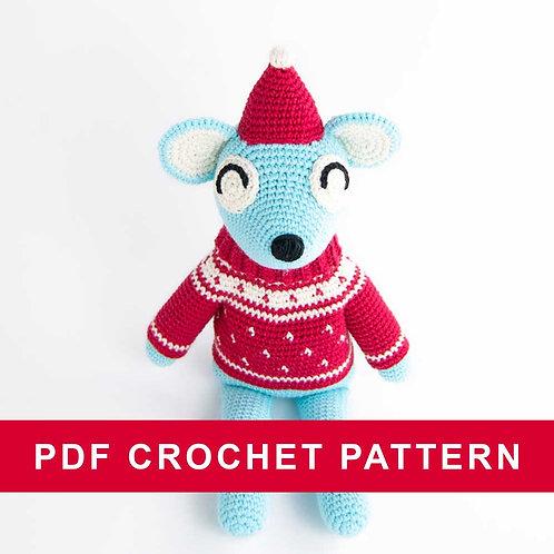 Mårten the mouse    crochet amigurumi PDF pattern