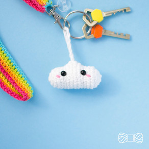 RAINBOW LANYARD & CLOUD | Free crochet pattern