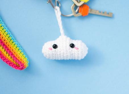 RAINBOW LANYARD & CLOUD   Free crochet pattern