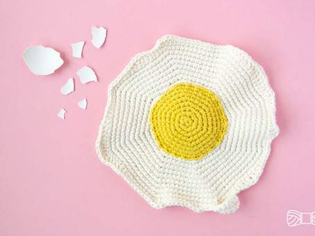 FRIED EGG POT HOLDER | Free crochet pattern