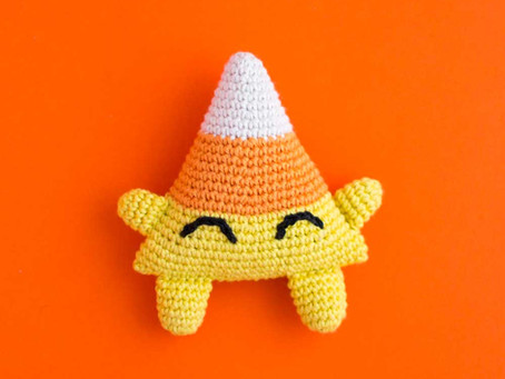 CANDY CORN CONRAD | Free crochet pattern
