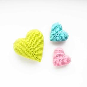 3D AMIGURUMI HEART | Free crochet pattern