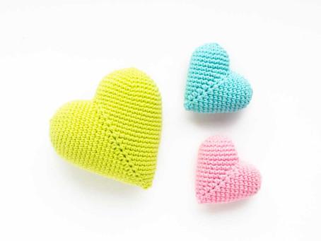 3D AMIGURUMI HEARTS | Free crochet pattern
