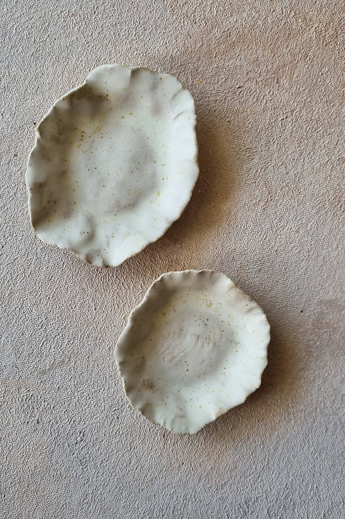 2 pcs paper plate natural white