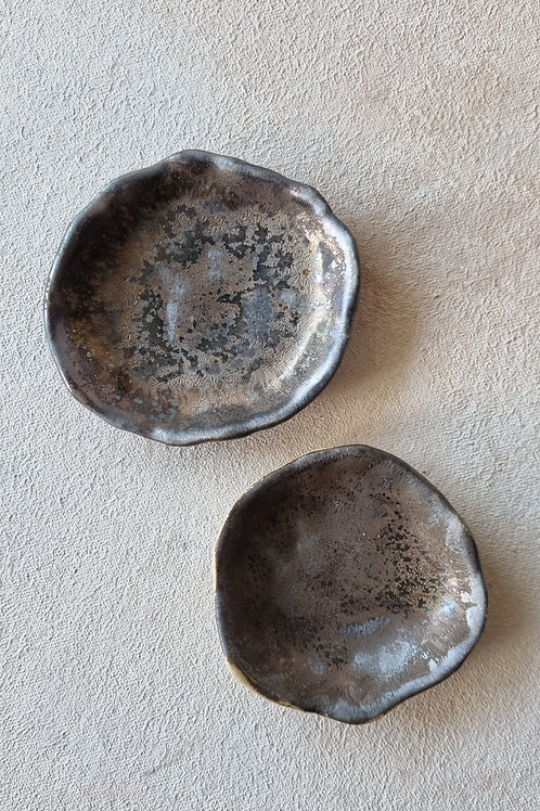 2 pcs crater small plate