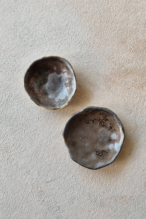 2 pcs crater small bowl and plate
